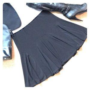 NWT Black Tulip Skirt w/ Flirty Flare Insets, sz S